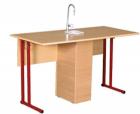 Стол ученический для кабинета химии с сантехникой