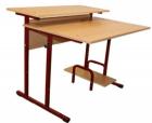 Стол ученический для компьютерного класса регулируемая высота