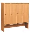 Шкафчик для одежды 4-х секционный