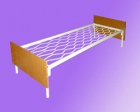 Кровать метал., сетка прокатная пружина, спинка ЛДСП