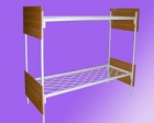 Кровать метал., 2-х яр, сетка прокатная пружина, спинки ЛДСП