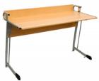 Стол ученический для кабинета физики и химии с бортиком
