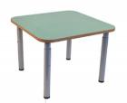 Столик квадратный на м/к + ЛДСП