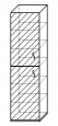Шкаф для документов 2-х дверный «Компакт»