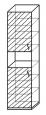 Шкаф для документов 2-х дверный с нишей «Компакт»