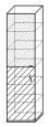 Шкаф для документов со стеклом «Компакт»