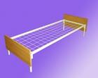 Кровать метал., сетка с ячейкой 70*100, спинка ЛДСП