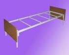 Кровать метал., на 4-х рейках с настилом ДСП, спинка ЛДСП