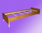 Кровать метал., на 4-х рейках с настилом ДСП, с царгами